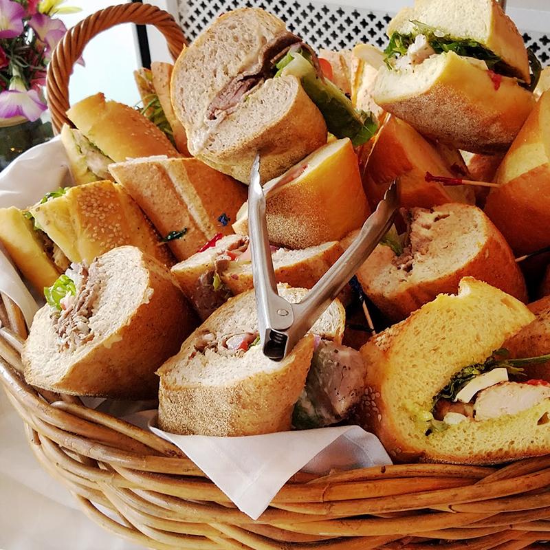 banner sandwiches